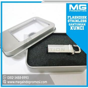 Flashdisk Promosi Stainless USB Gantungan Kunci